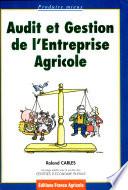 illustration du livre Audit et gestion de l'entreprise agricole