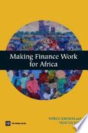 Making Finance Work For Africa