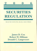 Securities Regulation  2006 Statutory Supplement