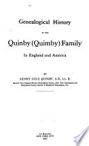 Genealogical History Of The Quinby Quimby Family In England And America