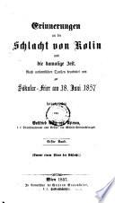 Erinnerungen an die Schlacht von Kolin und die damalige Zeit