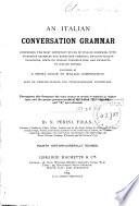 An Italian Conversation Grammar