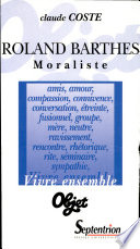 Roland Barthes moraliste