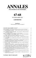 Annales d'économie et de statistique