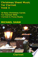 Clarinet  Christmas Sheet Music For Clarinet   Book 3