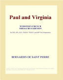Paul and Virginia  Webster s French Thesaurus Edition