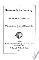 Reverance for the sanctuary Book PDF