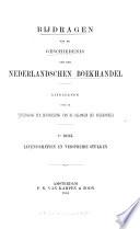 Bijdragen tot de geschiedenis van den nederlandschen boekhandel