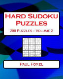 Hard Sudoku Puzzles Volume 2