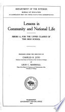 Lessons in Community and National Life