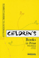 Subject Guide to Australian Children s Books in Print