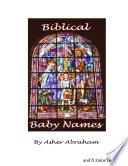 Baby Names Book Unique Biblical Baby Names