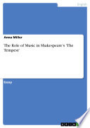 The Role of Music in Shakespeare s  The Tempest