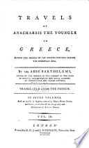 Travels of Anacharsis the younger in Greece