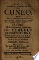 Theorema Mechanicum De Cuneo
