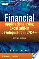 Financial Applications using Excel Add in Development in C   C