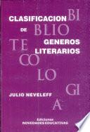 Clasificación de géneros literarios
