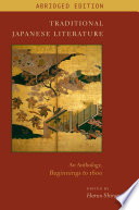 Traditional Japanese Literature