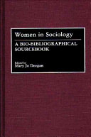 Women in sociology