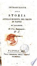 Introduzione alla storia antica e moderna del Regno di Napoli pe' giovanetti. Di Vito Buonsanto