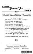 Standard Federal Tax Reporter 1960