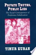 Private Truths  Public Lies Book PDF