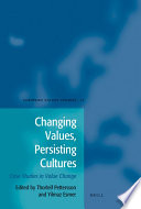Changing Values  Persisting Cultures