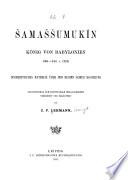Šamaššumukîn, König von Babylonien 668-648 v. Chr