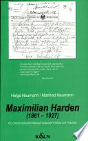 Maximilian Harden (1861-1927)