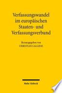 Verfassungswandel im europäischen Staaten- und Verfassungsbund