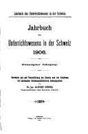 Jahrbuch des Unterrichtswesens in der Schweiz