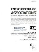Encyclopedia of Associations  pts  1 2  National organizations of the U S