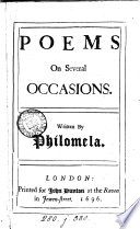 Poems On Several Occasions Written By Philomela