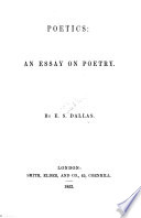 Poetics An Essay On Poetry