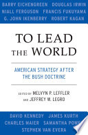 To Lead the World