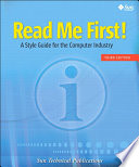 Read Me First  A Style Guide for the Computer Industry