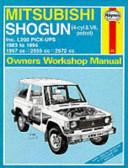 Mitsubishi Shogun & Pick-ups Owners Workshop Manual