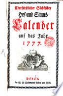 Churfürstlich-Sächsischer Hof- und Staatscalender