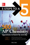 5 Steps To A 5 500 Ap Chemistry Questions To Know By Test Day Third Edition