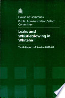 Leaks And Whistleblowing In Whitehall