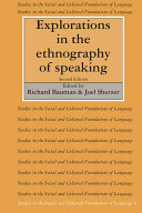 Explorations in the Ethnography of Speaking