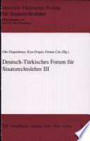 Deutsch-Türkisches Forum für Staatsrechtslehre III