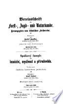 Vereinsschrift für Forst-, Jagd- und Naturkunde