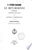 Le metamorfosi P. Ovidio Nasone