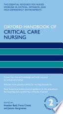 Oxford Handbook of Critical Care Nursing