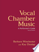 Vocal Chamber Music  Second Edition