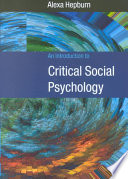 An Introduction to Critical Social Psychology