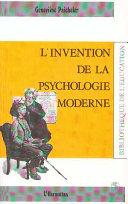 illustration L'invention de la psychologie moderne