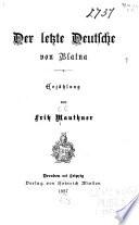 Der letzte Deutsche von Blatna