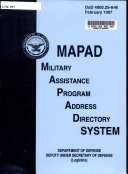 Military Assistance Program Address Directory System